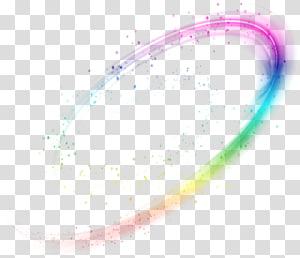 Teks Lingkaran Desain grafis Huruf Sudut, Efek cahaya dinamis sihir warna-warni, pelangi png