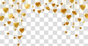 Garis Bentuk Hati, Pola berbentuk hati emas, hati emas PNG clipart