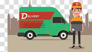 ilustrasi truk pengiriman hijau, Kurir Pengiriman, truk pengiriman png