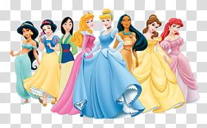 Princess Aurora Rapunzel Belle Snow White Maleficent, Kartun Disney Princess, ilustrasi Disney Princesses png