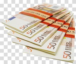 Lot 50 euro uang kertas, Euro, 50 Euro Stacks png