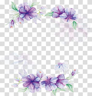 Desain bunga Lilac Flower Pattern, Poster bunga ungu Cat Air, bunga ungu dan putih png