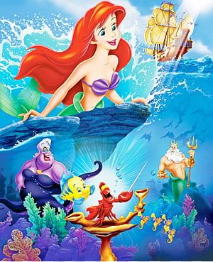 Bertema Putri Duyung Kecil, Ariel Ursula Sebastian Poster Putri Disney, Putri Duyung png