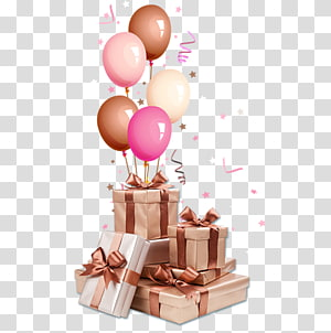 hadiah dengan balon seni, Pita Kertas Kotak Hias, hadiah png