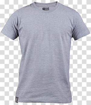 T-shirt crew-neck abu-abu, Lengan T-shirt, kemeja polo abu-abu png