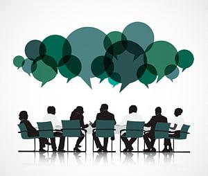 sekelompok orang duduk di kursi hijau, Proses bisnis Persaingan kasus Perusahaan Inovasi, Ikon Rapat png