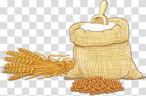 ilustrasi tepung dan rumput gandum, Tepung terigu Sereal tepung terigu, Pertanian gandum png