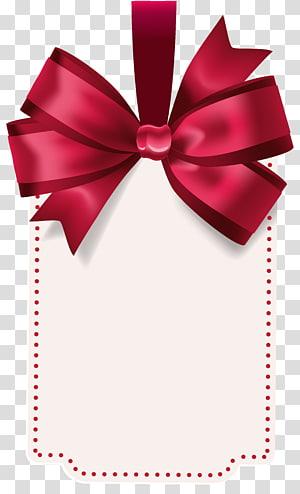 ilustrasi kartu undangan putih dan merah, Bow and arrow, Label dengan Red Bow Template png