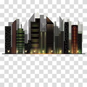 bangunan abu-abu dan coklat, arsitektur pemandangan kota malam kota langit malam PNG clipart