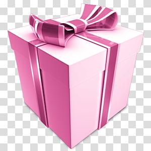 kotak hadiah merah muda dan putih, Ikon Hadiah Ulang Tahun, Hadiah png