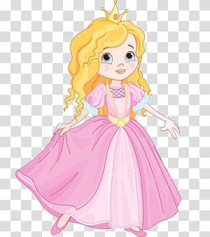 putri berpakaian merah muda, Kartun Siluet, Rok putri kecil. png