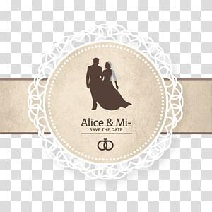 Undangan pernikahan Simpan tanggal, Sampul Pernikahan, Alice & Mi, logo png