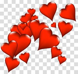 ilustrasi banyak hati merah, Snoopy Valentine's Day Heart, Deco Hearts png