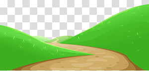Green Design Graphics, Valley with Pathway, stiker gunung png