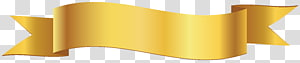 ilustrasi spanduk pita kuning, Spanduk Pita, Spanduk PNG clipart