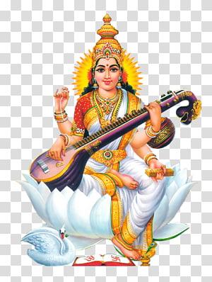 Ilustrasi dewa Hindu, Siwa Ganesha Saraswati Basant Panchami Devi, Tuhan png