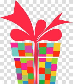 kotak hadiah warna-warni, Hadiah png