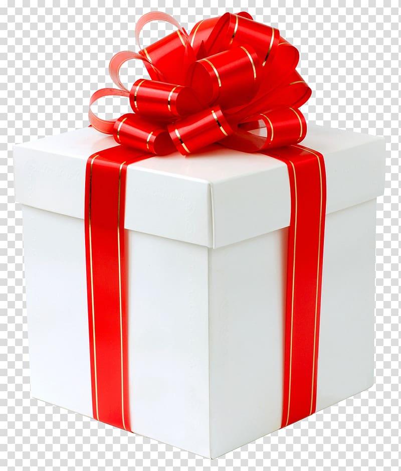Hadiah, Kotak Hadiah Putih dengan Red Bow, ilustrasi kotak hadiah merah dan putih png