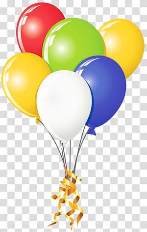 Balon, Balon Multi Warna, ilustrasi balon warna-warni png