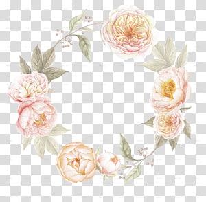 undangan pernikahan perbatasan bunga karangan bunga, daun cat air, pink rose karangan bunga template PNG clipart