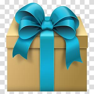 kotak hadiah dengan ilustrasi pita tipis, Kotak Hadiah Pita, Kotak Hadiah dengan Blue Bow Free png