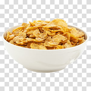 serpihan jagung dalam mangkuk, sereal Sarapan serpihan jagung Frosted Flakes Muesli, CEREAL png