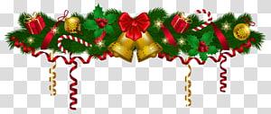 ilustrasi garland hijau, Garland, Christmas Deco Garland png