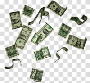 Banyak uang kertas dolar AS, Dolar Amerika Serikat, tagihan satu dolar Amerika Serikat, File Dolar Terbang png