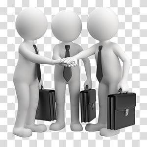 tiga pria memegang ilustrasi tas hitam berkerumun, Bisnis Manajemen Layanan Industri Penjualan, pola Karakter Sketsa Karakter, Kerjasama Bisnis 3d penjahat png