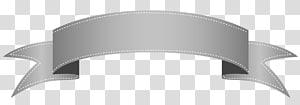 Ribbon Banner, Silver Banner, pita abu-abu png