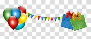 Pesta Ulang Tahun, Dekorasi Pesta dengan Hadiah dan Balon, dekorasi ulang tahun png