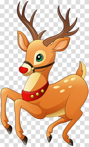 ilustrasi rusa coklat, Rudolph Reindeer Christmas, Rudolph png