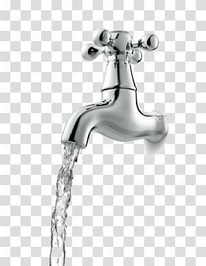 faucet mengalir abu-abu, Buka faucet png