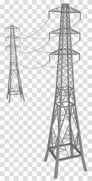 menara transmisi listrik tenaga listrik transmisi overhead saluran listrik tegangan tinggi, tegangan tinggi png