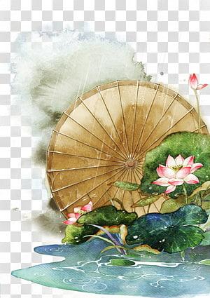 ilustrasi bunga petaled pink dan putih, Lukisan Cat Air Menggambar Ilustrasi, Antiquity ilustrasi cat air yang indah png