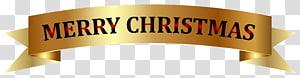 ilustrasi merry Christmas, Christmas Banner, Golden Merry Christmas Banner png