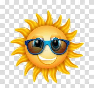 matahari memakai kacamata hitam ilustrasi, Light Sunglasses Icon, Great kartun pulau matahari PNG clipart