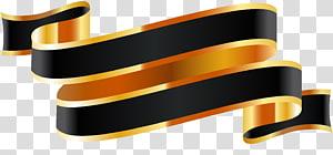 logo pita hitam dan emas, pita Pita web, Pita pita satin png