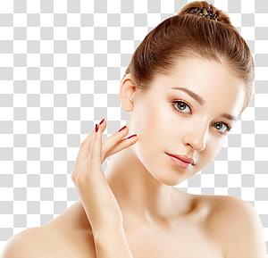 wanita dengan manikur merah dan lipstik merah muda, Kosmetik Perawatan Kulit Jerawat Comedo Facial, lainnya PNG clipart