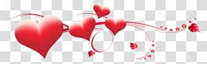 Hati Hari Valentine, Dekorasi Hati Hari Valentine, ilustrasi hati merah png