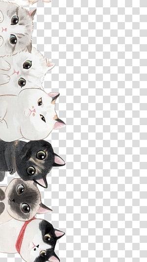 Kucing Kucing, Kucing Kartun, ilustrasi kucing PNG clipart