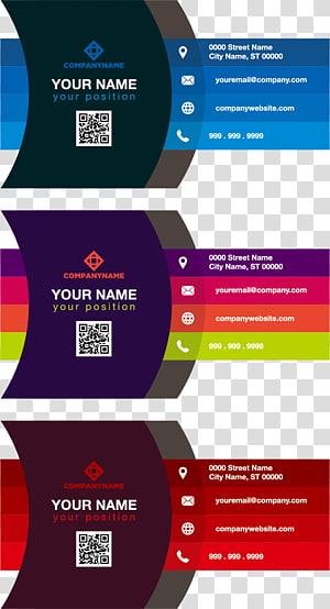 tiga macam ilustrasi warna, Kartu nama Color Adobe Illustrator, kartu nama Gradient color png