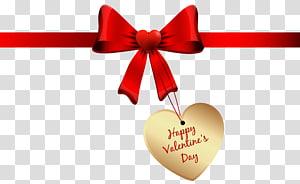 dekorasi hati emas, Hari Valentine, Selamat Hari Kasih Sayang Bow png