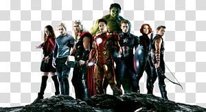 Ilustrasi karakter Marvel Avengers, Black Widow Thor Ultron, Avengers Free png