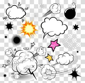 animasi, Komik Pidato balon Buku Kartun Komik, komik cloud ledakan Dialog png