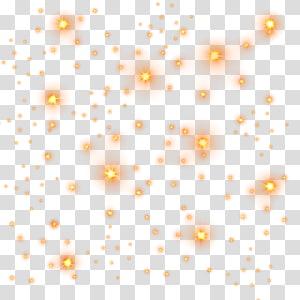 Motif Bintang Cahaya, bintang-bintang cahaya Emas, cahaya oranye berkilau png