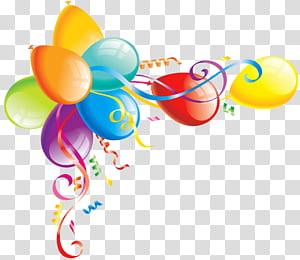 Kue ulang tahun Balon, Balon Besar, balon aneka warna s png