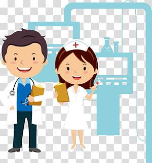 dokter dan perawat, Kartun Dokter Perawat, Kartun dokter dan perawat png