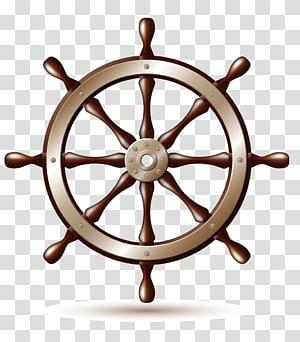 roda kapal coklat dan krem, Roda Kapal, tema Bahari png