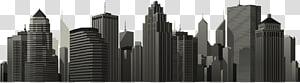 ilustrasi bangunan hitam, Kota: Skylines Siluet Kota New York, bangunan kota PNG clipart